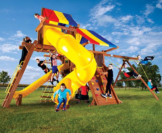 19G-Rainbow-Castle-Pkg-V-with-270-Spiral-Slide-A1