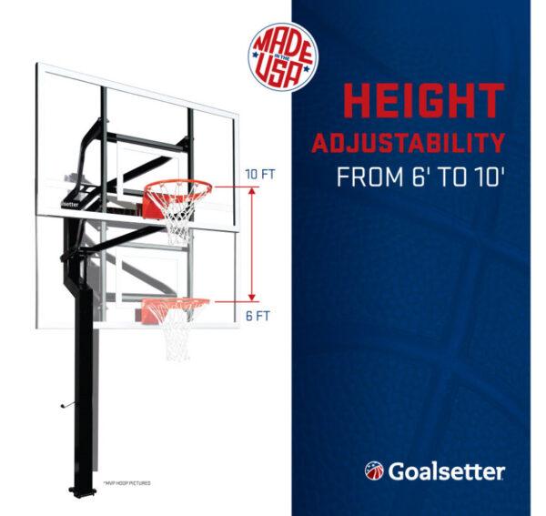 Goalsetter All-American Adjust In-Ground Basketball Hoop 2