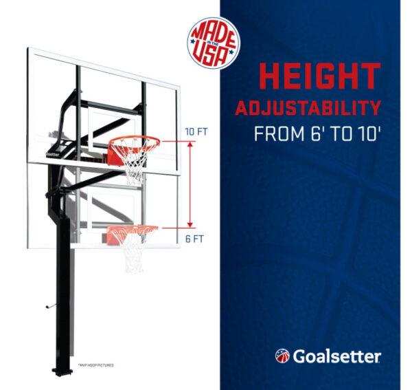Goalsetter All-Star Adjustable In Ground Hoop 2