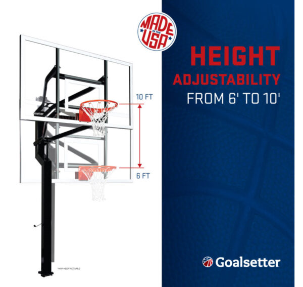 Goalsetter Captain Adjustable In Ground Hoop 2