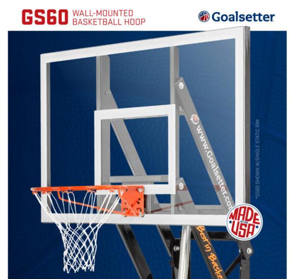 Goalsetter GS60 Wall Mounted Basketball Goal 3