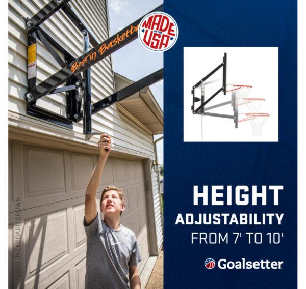 Goalsetter GS72 Wall Mounted Basketball Goal 4
