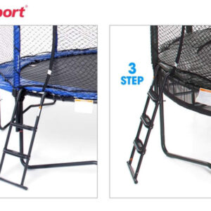 Surestep trampoline ladder 3 and 2 step